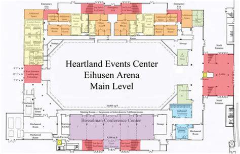 arena floor plans facilities heartland events center official site