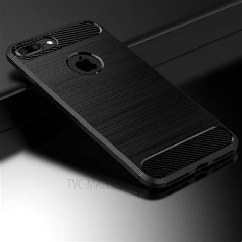 100 Original Ipaky Iphone 7 4 7 Carbon Soft Bu 505 ipaky carbon fibre brushed tpu for iphone 8 plus 7 plus black tvc mall