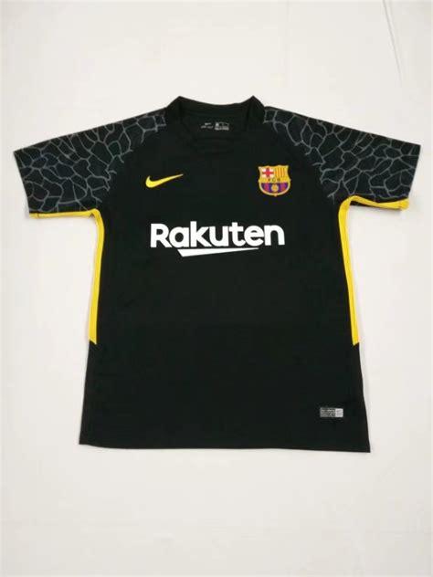 barca gk hijau jersey barca gk barcelona 2017 18 black goalkeeper shirt soccer jersey