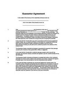 Rental Agreement Guarantor Letter Guarantor Agreement Free