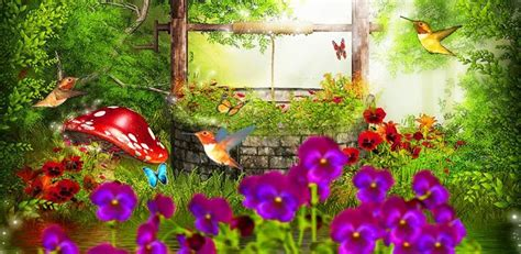 fairy tale garden   wallpaper   android
