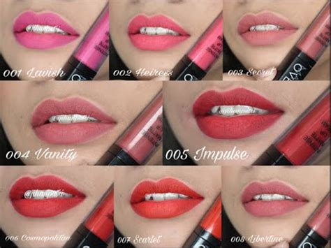 Lipstik Makeover Matte Lip makeover matte lipcream all shades review swatch