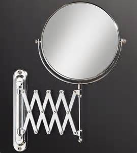 magnified bathroom mirror hib extendable magnifying bathroom mirror 27200