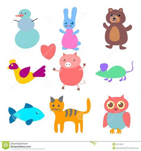 figuras geometricas de animales figuras do vetor dos animais ilustra 231 227 o do vetor imagem