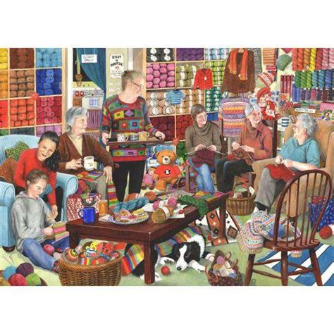 knitting puzzles knit and natter jigsaw puzzle from jigsaw puzzles direct
