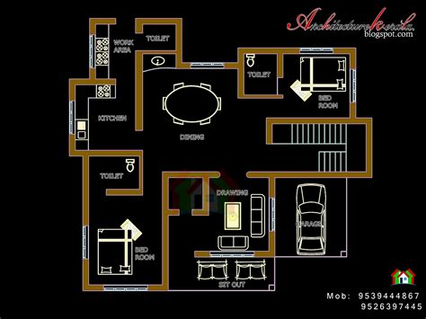 cost to furnish a 4 bedroom house floor plan kerala style house traditional style kerala