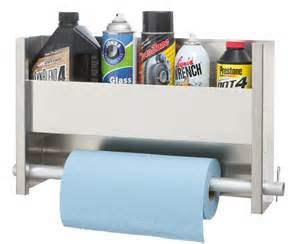 1 shelf wall cabinet system with paper towel holder