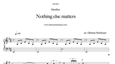 nothing else matters klaviernoten nothing else matters