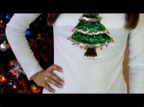diy como decorar tus camisas para abrir los regalos de - Imagenes Para Decorar Camisetas De Navidad