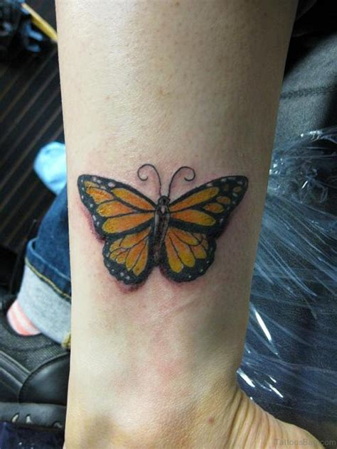 yellow tattoo 54 butterfly wrist tattoos design