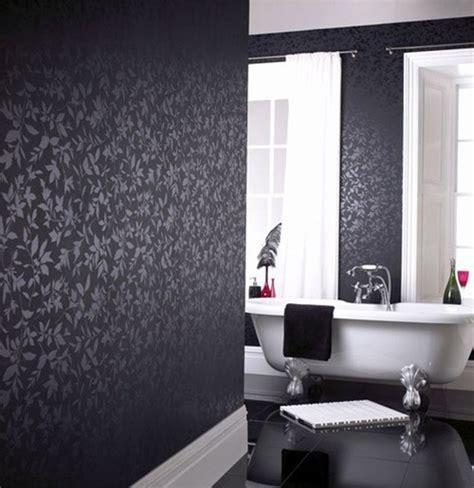 black and white wallpaper for bathrooms paredes con interiores en color negro interiores