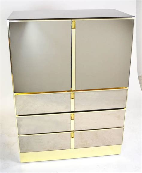 Mirrored Bar Cabinet Bronze Mirrored Bar Cabinet By Ello For Sale At 1stdibs