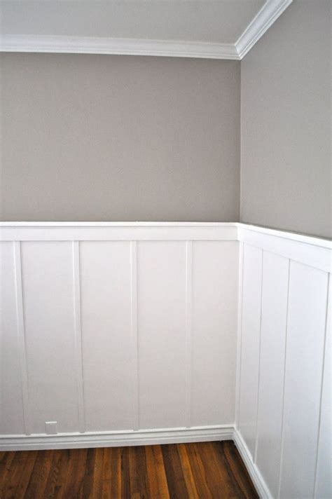 Painting Wainscoting by Board And Batten I Like The Different Baseboard With A