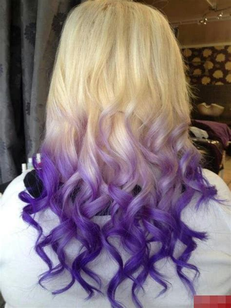coloring only bottom of d hair purple ombre hair hair and beayt tips pinterest