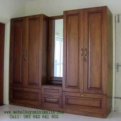 lemari pakaian minimalis wardrobe mebel kayu minimalis