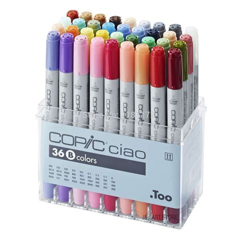 Copic Marker 36 By Polkapolca by Copic Ciao Marker Set Of 36 Colours Set B Copic Ciao
