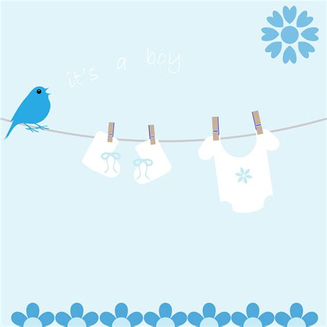 baby boy card template baby boy card announcement free stock photo