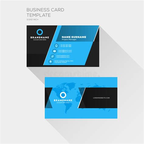 Business Card Appointment Clean Template Design Illustrator by Corporate Business Card Print Template Personal Visiting