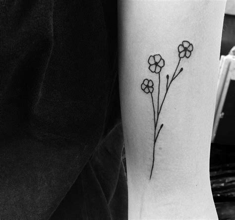 small forget me not tattoo image result for black and white forget me not