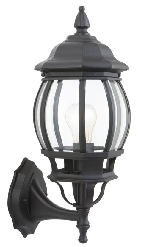 hton bay exterior wall lantern black the home depot