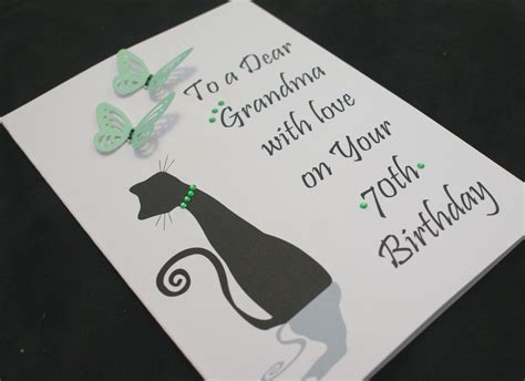 Handmade 50th Birthday Invitations - handmade personalised cat birthday card16th 21st 20th 30th
