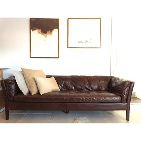 leather sofa restoration hardware restoration hardware sorensen leather sofa copy cat chic