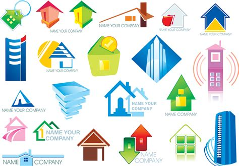 free vector home icon designs house real estate theme icon vector free vector 4vector