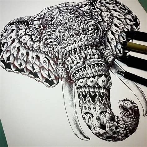 henna tattoo zeichnen ornate elephant by bioworkz on deviantart