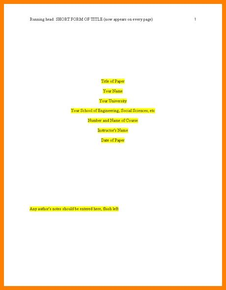 apa title page template 6th edition apa 6th edition template tryprodermagenix org