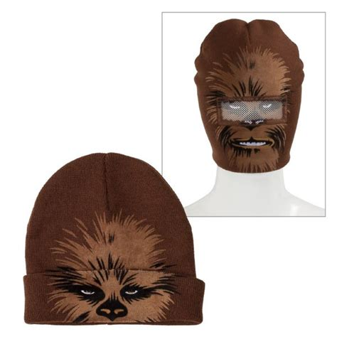 printable chewbacca mask chewbacca roll down mask beanie star wars holidays
