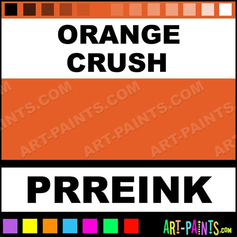 orange crush ink calligraphy ink paints and pigments for writing drawing and painting prreink
