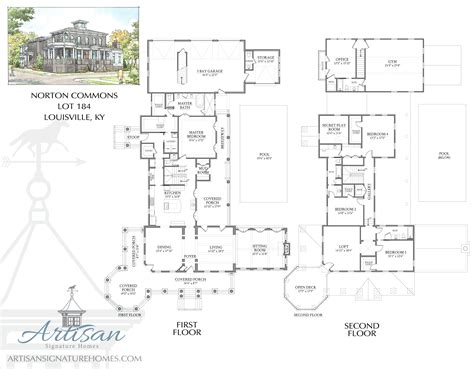 signature design plans artisan signature homes custom home builder louisville norton commons lot 184