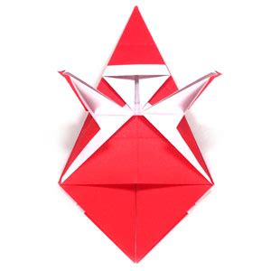 Simple Origami Santa Claus - how to make a simple origami santa claus page 12
