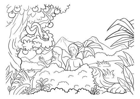 dibujos para colorear de adan y eva dibujo para colorear ad 225 n y eva img 29826
