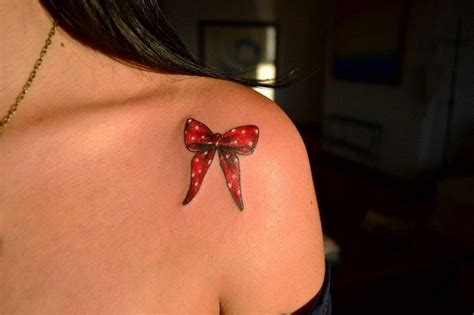 small shoulder tattoos for girls small bow in white spots for on shoulder