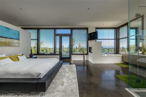 modern concrete floor finish in bedroom in camarillo ca dwell on despard contemporary bedroom vancouver by