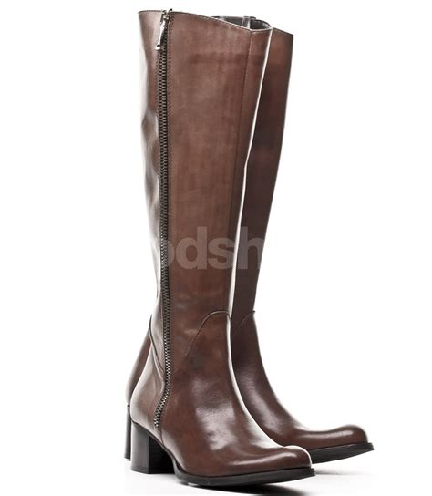 womens leather boots venezia s brown leather boots goodshoes pl