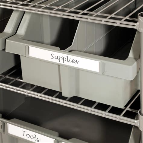 seville commercial 7 shelf 16 bin rack storage system