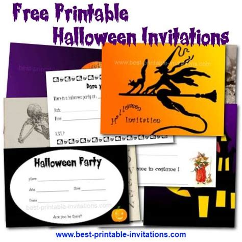 printable halloween party invitations print 8 best images of halloween party printable birthday