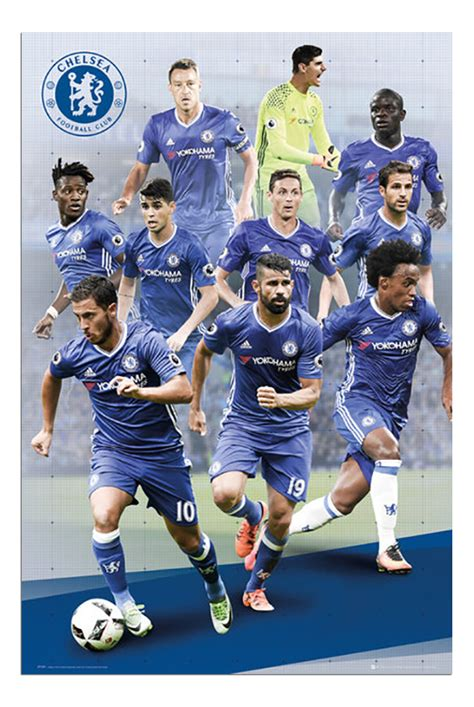 chelsea player 2017 chelsea fc 2016 2017 season poster new maxi size 36 x