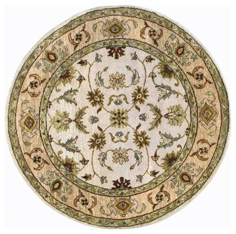 6x6 Area Rugs Rugsville Ziegler Beige Gold Wool Rug 10494 6x6 Traditional Area Rugs By Rugsville