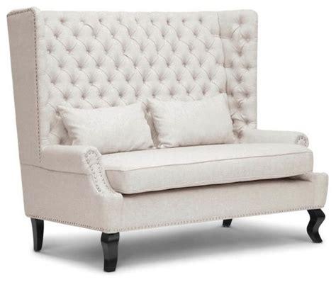 owstynn beige linen modern banquette bench eversleigh beige linen modern banquette bench modern