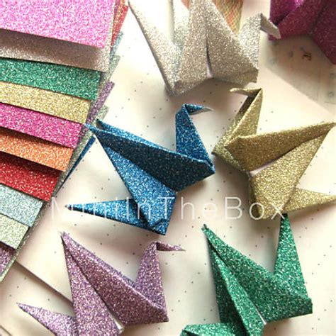 Origami Materials - flash powder papercranes origami materials 12 pieces bag