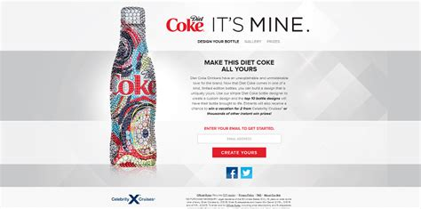 Diet Coke Sweepstakes - diet coke it s mine bottle designer promotion