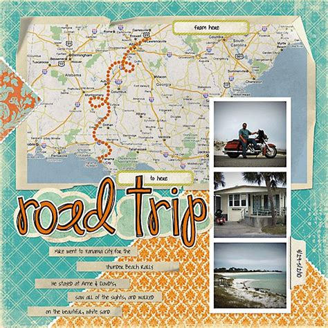 scrapbook layout maps road trip scrapbooking layouts and design pinterest