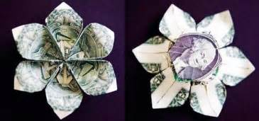 Folding Paper Money Into Flowers - money origami flower edition 10 different ways to fold a