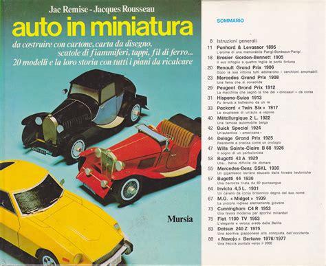in miniatura da costruire remise rousseau auto in miniatura 20 modelli da