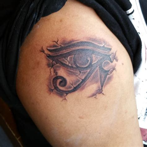 the eye of horus tattoo attractive 3d grey ink horus eye