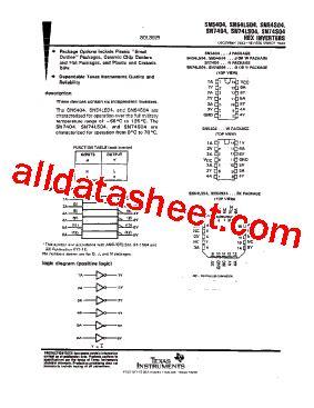 sn7404 datasheet pdf instruments