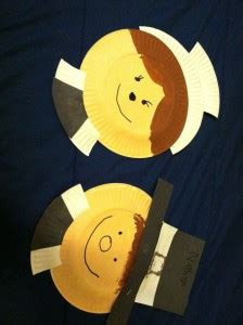 Pilgrim Paper Plate Craft - thanksgiving day craft idea for crafts and